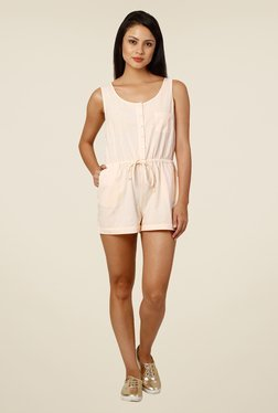 Oxolloxo Peach Solid Playsuit