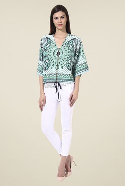 Oxolloxo Green Printed Jacket