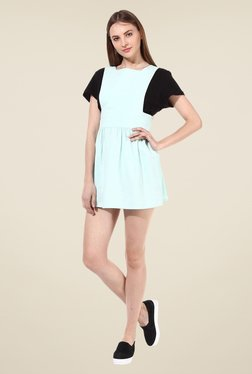 Oxolloxo Sea Green Solid Dress