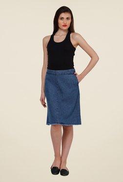 Oxolloxo Dark Blue Solid Skirt