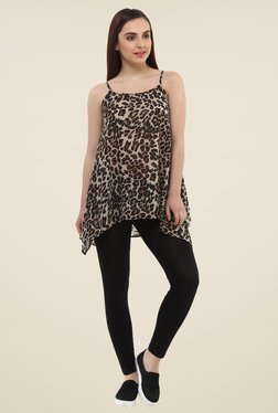 Oxolloxo Brown Animal Print Top - Mp000000001042687