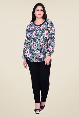 Oxolloxo Blue Floral Print Top