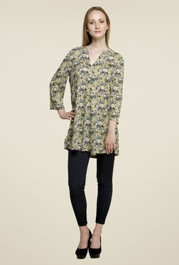 Oxolloxo Green Floral Print Tunic