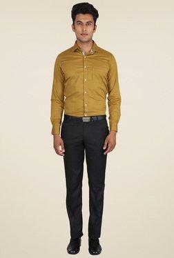 Easies Black Flat Front Trouser