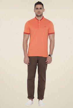 Park Avenue Brown Slim Fit Trouser