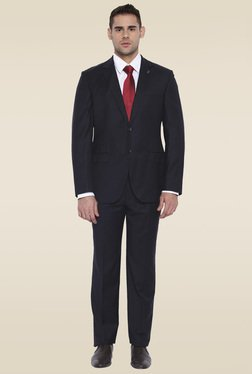Park Avenue Jet Black Full Sleeves Suit