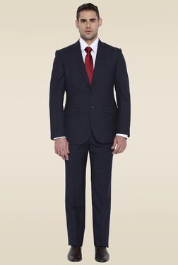 Park Avenue Black Regular Fit Full Sleeves Suit