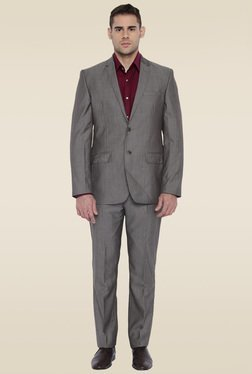 Park Avenue Grey Full Sleeves Suit