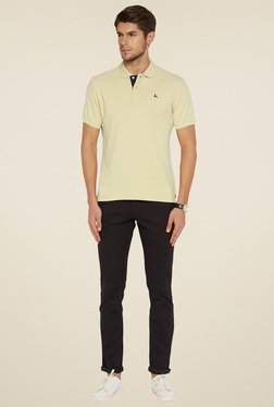 Parx Beige Cotton Regular Fit T-Shirt