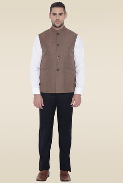 Park Avenue Dark Brown Sleeveless Jacket
