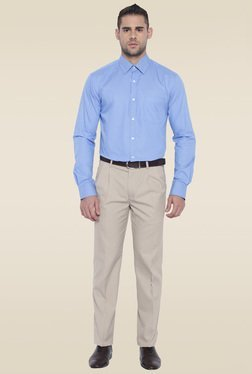 Park Avenue Blue Slim Fit Cotton Shirt