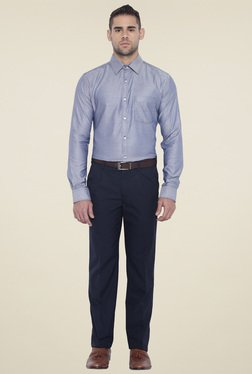 Park Avenue Dark Blue Mid Rise Trouser