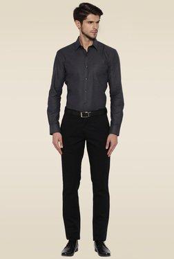Park Avenue Black Slim Fit Cotton Shirt