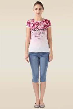 Monte Carlo Pink Short Sleeves Round Neck Top