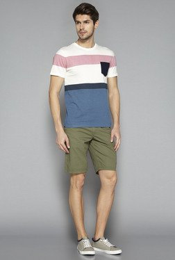 Westsport By Westside Off White Color Block Slim Fit T Shirt