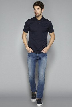 Ascot by Westside Navy Slim Fit Polo T Shirt