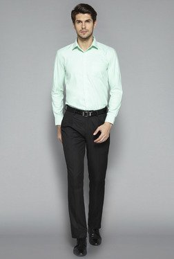 Weststreet by Westside Mint Green Regular Fit Shirt