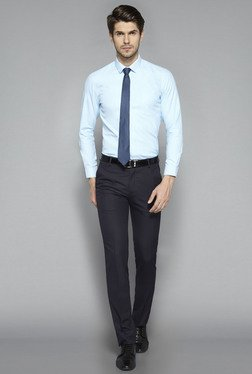Weststreet by Westside Sky Blue Slim Fit Shirt