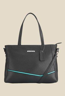 Caprese Milly Turquoise & Black Solid Shoulder Bag