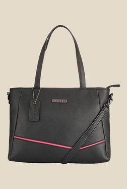 Caprese Milly Pink & Black Solid Shoulder Bag