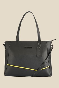 Caprese Milly Yellow & Black Solid Shoulder Bag