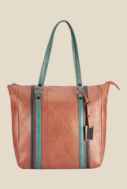 Caprese Sharon Brown Solid Shoulder Bag