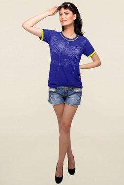 C9 Airwear Blue Floral Print T Shirt