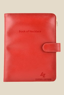 Leather Zentrum Red Leather Solid Book Of Necklace