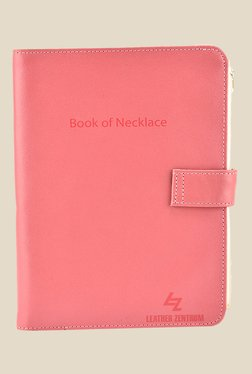 Leather Effect Pink Solid Book Of Necklace