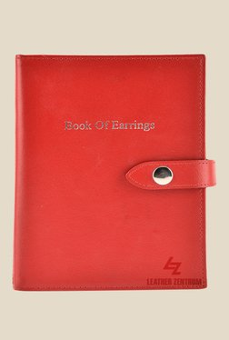 Leather Zentrum Red Leather Solid Book Of Earrings