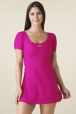 Lobster Pink Scoop Neck Swimwear