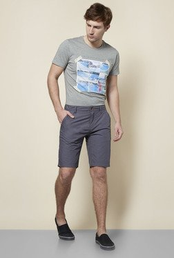 s.Oliver Grey Cotton Shorts