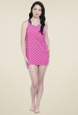 Lobster Pink Polka Dot Sarong