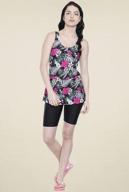 Lobster Black Floral Printed Swimwear