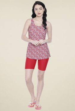 Lobster Red Printed Swimwear