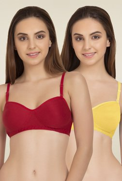 Tweens Red & Yellow Non Padded T-Shirt Bra (Pack Of 2)