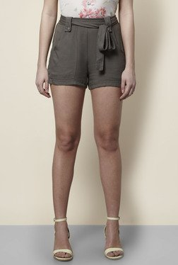 New Look Olive Solid Shorts