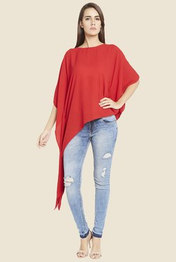 Globus Red Solid High Low Top
