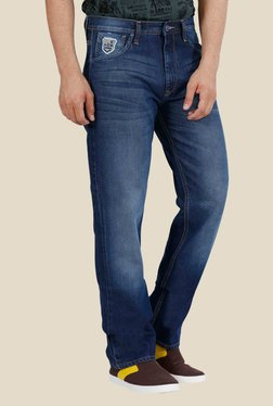 Lee Rodeo Navy Mid Rise Regular Fit Jeans