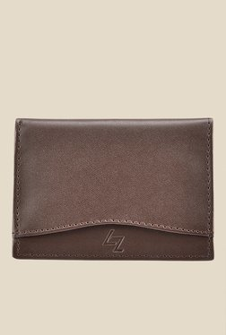 Leather Effect Brown Solid Card Holder - Mp000000001058217