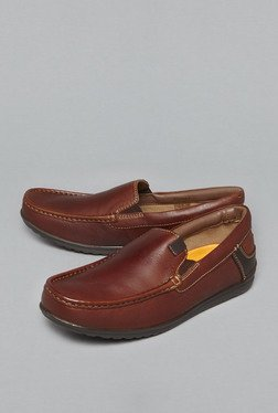 David Jones By Westside Brown Genuine Leather Loafers
