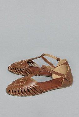Head Over Heels By Westside Tan Fisherman Sandals