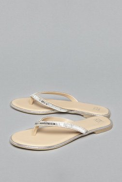 Head Over Heels by Westside Silver Thong Sandals