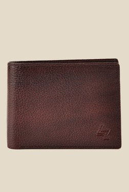 Leather Zentrum Cherry Brown Leather Wallet - Mp000000001059845