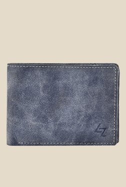 Leather Effect Blue Solid Wallet