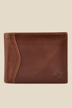 Leather Zentrum Dark Tan Leather Wallet - Mp000000001059948