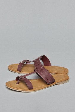 Head Over Heels by Westside Wine T Strap Sandals