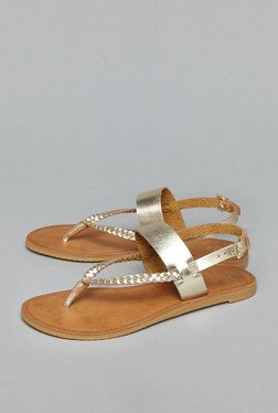 Head Over Heels by Westside Gold Thong Sandals