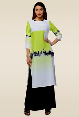 Homa Multicolor Round Neck Printed Regular Fit Kurta