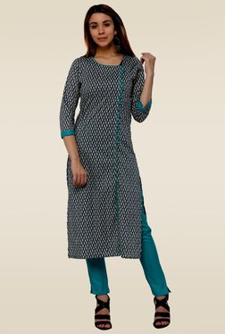 Homa Multicolor 3/4th Sleeves Printed Kurta